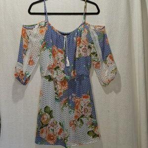 3/$35*NEW* Floral Print Dress - Cold Shoulder